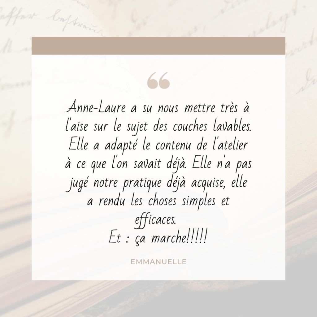 témoignage d'Emmanuelle